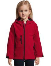 Kids` Hooded Softshell Jacke Replay