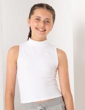 Kids` High Neck Crop Vest
